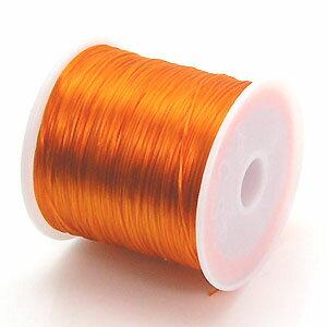 10-ru-1彩色鬆緊帶橘黄色聚脂製造尺寸(大約0.8mmX70m)1個鬆緊帶鬆緊帶橡膠編碼
