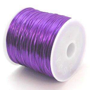12-ru-1彩色鬆緊帶紫色聚脂製造尺寸(大約0.8mmX70m)1個鬆緊帶鬆緊帶橡膠編碼