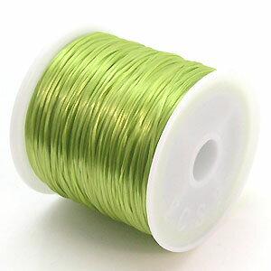 15-ru-1彩色鬆緊帶綠色聚脂製造尺寸(大約0.8mmX70m)1個鬆緊帶鬆緊帶橡膠編碼