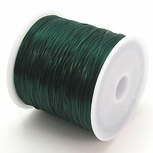 24-ru-1彩色鬆緊帶深綠色色聚脂製造尺寸(大約0.8mmX70m)1個鬆緊帶鬆緊帶橡膠編碼