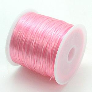 3-ru-1彩色鬆緊帶嬰兒粉紅色聚脂製造尺寸(大約0.8mmX70m鬆緊帶鬆緊帶橡膠編碼)