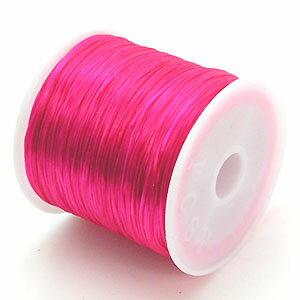 7-ru-1彩色鬆緊帶櫻桃粉紅色聚脂製造尺寸(大約0.8mmX70m鬆緊帶鬆緊帶橡膠編碼)