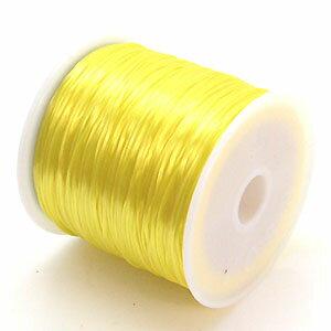 8-ru-1彩色鬆緊帶黄色色聚脂製造尺寸(大約0.8mmX70m)1個鬆緊帶鬆緊帶橡膠編碼