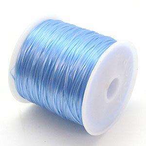9-ru-1彩色鬆緊帶Aqua色聚脂製造尺寸(大約0.8mmX70m)1個鬆緊帶鬆緊帶橡膠編碼