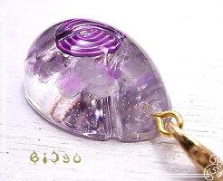 エッグ型(小)【オルゴナイト】イヤホンジャックアメジスト毘殊[Bijyu]天然石パワーストーンアイテム