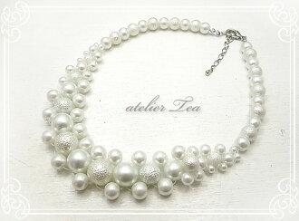 仙女仙女與珍珠項鍊 (w/箱 + 耳環)