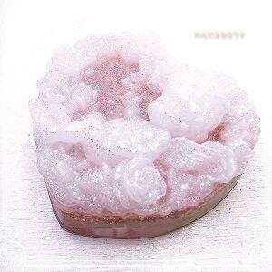 オルゴナイト ハートローズ 天使 (白) パワーストーン 天然石 水晶 [わんだふるはうす] スピリチュアル 開運 癒し 浄化 幸運