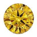 【2個】カラーダイヤモンド 【ラウンドカット】 ルース ゴールドイエロー 1.5mm 天然石 アクセサリー diac-gly-15