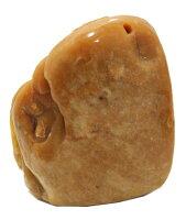 """【送料無料】天然石イエロージェイド翡翠""""ねずみ""""彫刻1点もの原石コレクションパワーストーンスピリチュアルヒーリング"""