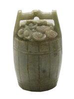 """【送料無料】天然石ジェイド翡翠""""花桶""""彫刻1点もの原石コレクションパワーストーンスピリチュアルヒーリング"""