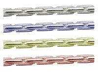 sc-i-13w-10mシルバーチェーンカルダノチェーンコブラチェーン完成品(ネックレス)サイズ(幅約:1.3mm長さ:10m)1本シルバー925ロジウムカラーコーティング