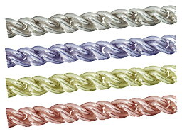 シルバーチェーン ルーズロープツイストチェーン 切り売り サイズ(幅 約:2.1mm 長さ:1m) シルバー925 無垢