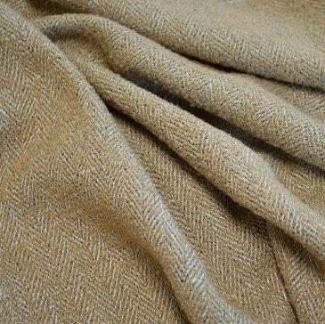 【送料無料】【日本製】ループ ツィード ヘリンボーンベージュ【 生地 布 織物 手芸 手作り DIY インテリア 秋冬 スカート パンツ 】