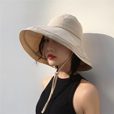 WJ 帽子 レディース 紫外線100%カット 折りたたみ 小顔効果 紫外線UVカット 帽子 女性 あご紐付き つば広 大きいサイズ あり 春 夏 ハット サイズ調整可能 おしゃれ 可愛い サファリハット 日よけ UVカット帽子 完全遮光 自転車 飛ばない