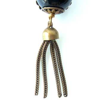 New!アンティークスタイルのイヤリングJANMICHAEL(サンフランシスコ)オニキスと美しいデザイン