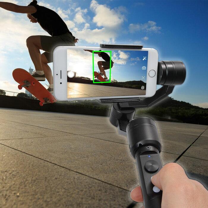 \スーパーSALE特価/自動追尾システム3軸32bit電子制御カメラスタビライザー FACRSTAB android専用 手ブレ補正 カメラ撮影 スマホ 50%OFF