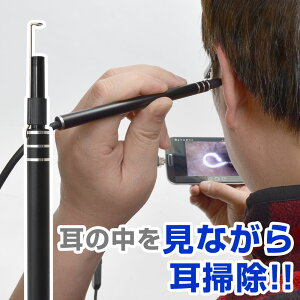 カメラで見ながら耳掃除!爽快USB耳スコープ USBEARCM