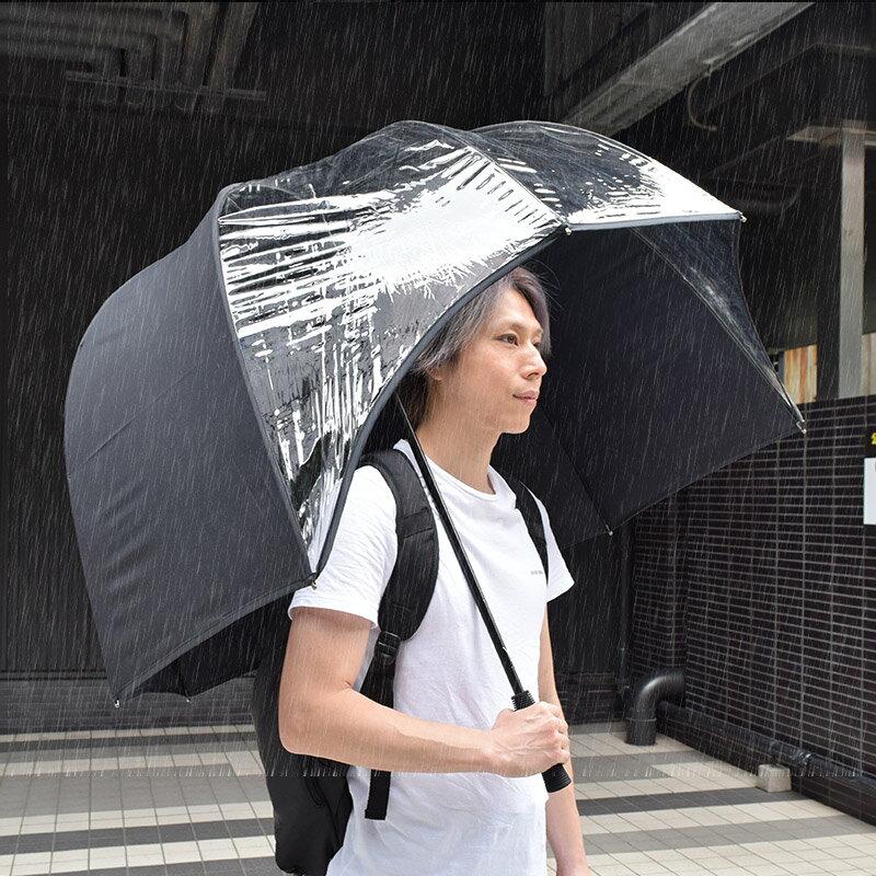THANKO(サンコー)『雨から上半身を守るドーム傘バリアンブレラ』