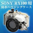 ソニーCyber-shot DSC-RX100用防水ハウジングケース WRCFCSRX 【16時締切翌日出荷※祝前日・休業日前日を除く】