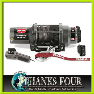WARN Vantage 4000-S 12Vウォーン社 電動ウインチハウズフェアリード※色は黒じゃなくガンメタです。P/# WI89041【サンクスフォー】