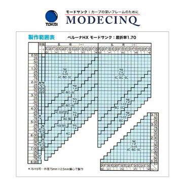 ポイント15倍〜最大34倍+5倍 TOKAI (東海光学)内面非球面カーブレンズ「ベルーナJX MODECINQ モードサンク(1.70)」