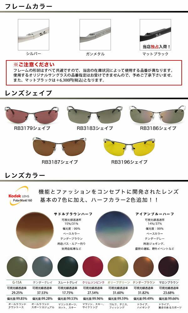 Ray-Ban レイバン サングラス & 高屈折・高性能 偏光レンズ KODAK PolarMax6160 II 偏光サングラス カスタムメイド スペシャルセット! レイバン RAYBAN 偏光 コダック ポラマックス6160 II 釣り ゴルフ ドライブ レディース メンズ スポーツ 度数つき可能