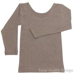 天然泥パック婦人長袖シャツ(写真はブラウン)