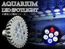 交換球 LED スポットライト 青1白5赤1 照射角60度 ...