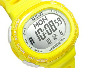 Lady's watch yellow SSVD003 for SEIKO Lucia running-style digital running