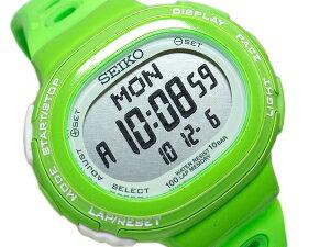 Seiko Rukia ladies watch green running shoes running style digital SSVD009