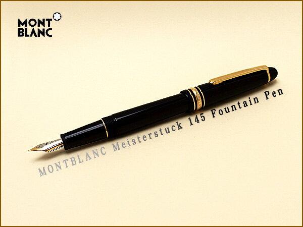 筆記具, 万年筆 145 106513 MONTBLANC F Meisterstuck Classique Fountain pen 2 MB-145-F