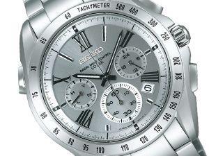 Seiko brightz chronograph wave solar mens Watch Silver Darvish with image anime SAGA065