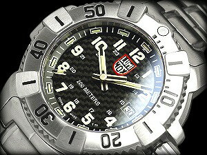 Luminox エヴォネイビーシール diver's watch black carbon dial stainless steel belt T25 notation 6202