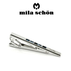 【mila schon】ミラショーン ネクタイピン 専用ボックス付き スワロフスキー MST8333