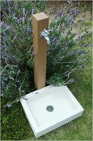 【立水栓・水栓・鉢】立水栓ユニットシンプルパンホワイト【10P26Jan12】