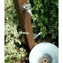 【立水栓ユニット】【送料無料】木材を使用したナチュラルでモダンな立水栓【立水栓・水栓・鉢...