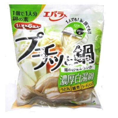 エバラ プチッと鍋 濃厚鶏白湯鍋 22g×6 ケース 12個入り|4901108013144-12:食品(出c1-tc)