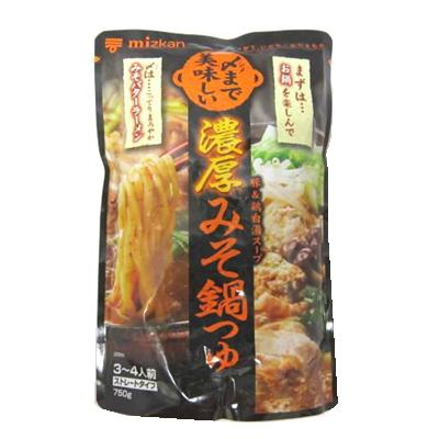 ミツカン 〆まで美味しい 濃厚みそ鍋つゆ 750g ケース 12個入り|4902106648697-12:食品(出c1-tc)