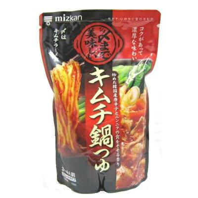 ミツカン 〆まで美味しい キムチ鍋つゆ 750g ケース 12個入り|4902106649731-12:食品(出c1-tc)