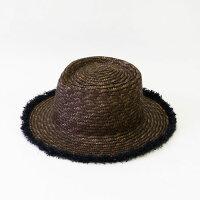 CheerストロースールフリンジHAT≪グレー≫レディース帽子ストローハットカンカン帽【あす楽対応】
