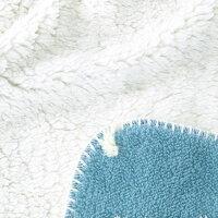 ComfyCozyボアブランケット≪キャット/ブルー≫W100×H70cmふわふわひざ掛け毛布ファブリック【あす楽対応】