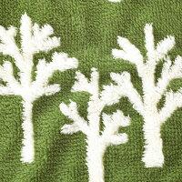 ComfyCozyボアブランケット≪ツリー/グリーン≫W100×H70cmふわふわひざ掛け毛布ファブリック【あす楽対応】