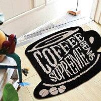 Objectモチーフフロアマット(ROASTCOFFEE)55cm×45cmコーヒー豆玄関マットラグマット【あす楽対応】