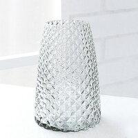 COVENTGARDENディンプルガラスボトルベース≪グレー≫フラワーベース花瓶花器ガラス瓶【あす楽対応】