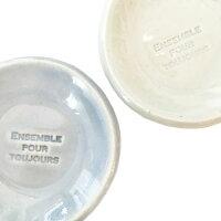 MiniPlate豆皿メッセージ≪ホワイト/ブルー≫直径5.8cm日本製食器箸置きテーブルウェア小皿【あす楽対応】