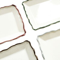 COEURD'ARTISANクルールレクタングルディッシュ4枚SET≪ホワイト≫日本製プレート小皿BOX付きテーブルウェア角皿【あす楽対応】
