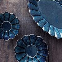 PoterieボウルSサイズ≪ベージュ/ネイビー/ブラック≫日本製プレート小皿テーブルウェア【あす楽対応】
