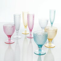 ROSETTEシャンパングラス≪全7カラー≫160mlアンティークガラスデザイン樹脂製グラス食器ドリンクグラス【あす楽対応】