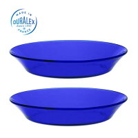 DURALEXデュラレックスサファイアスーププレート(19.5cm)【2枚セット】ガラス製耐熱食器お皿プレート洋食器中皿【あす楽対応】