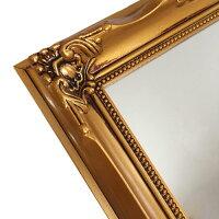 Operettaヴィンテージスタンド&ウォールミラー≪ゴールド≫アンティーク額縁フレーム鏡17.4cm×22.4cm立て掛け壁掛け【あす楽対応】